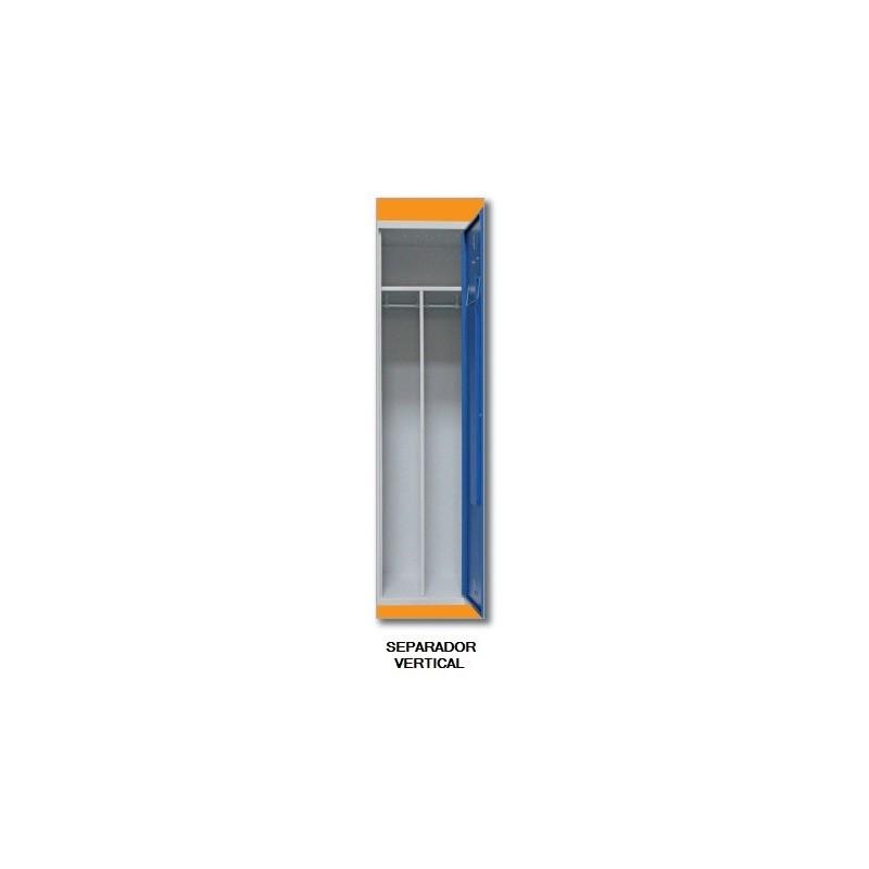 Separador vertical metálico (para añadir a las taquillas)