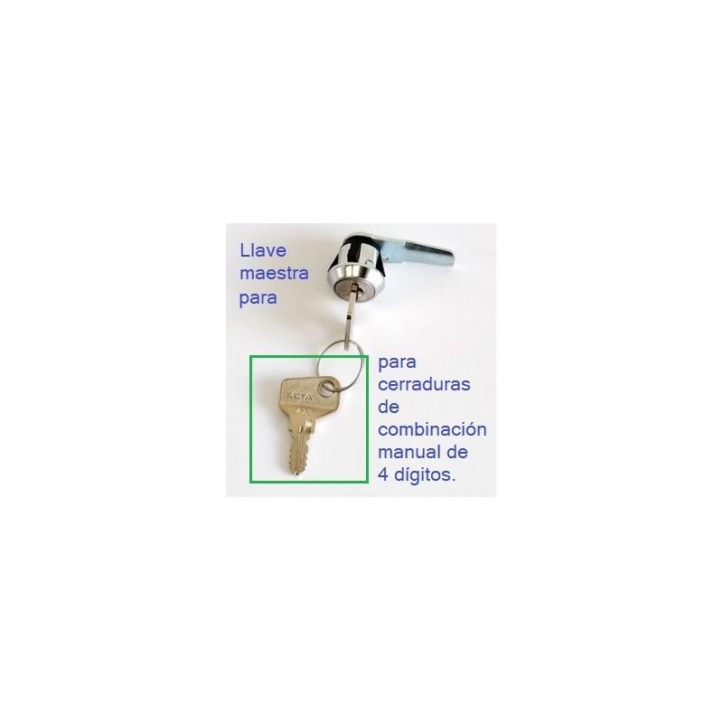 Llave maestra para cerraduras de combinación