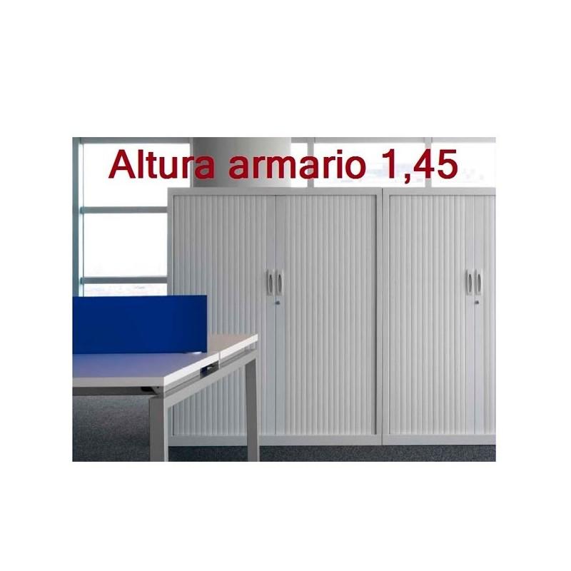 Armario persianas 1,45 m. con 2 estantes