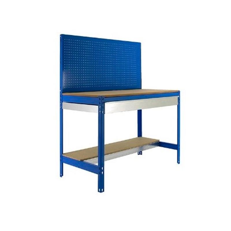 Banco de trabajo con cajón y panel