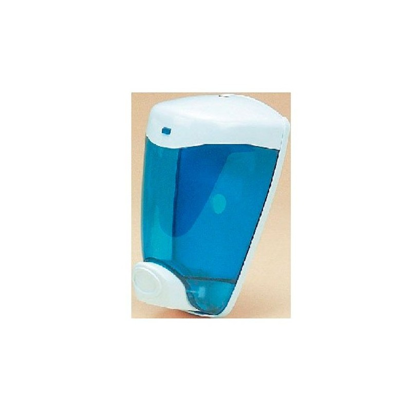 Dosificador manual de jabón en ABS, azul - 1 litro