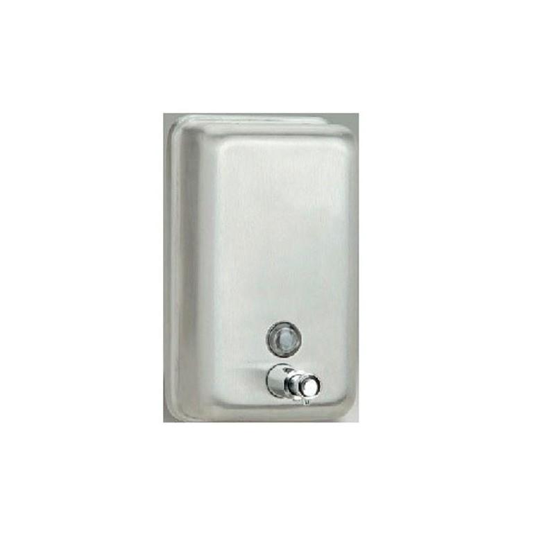 Dosificador vertical de jabón en acero inoxidable 1 litro