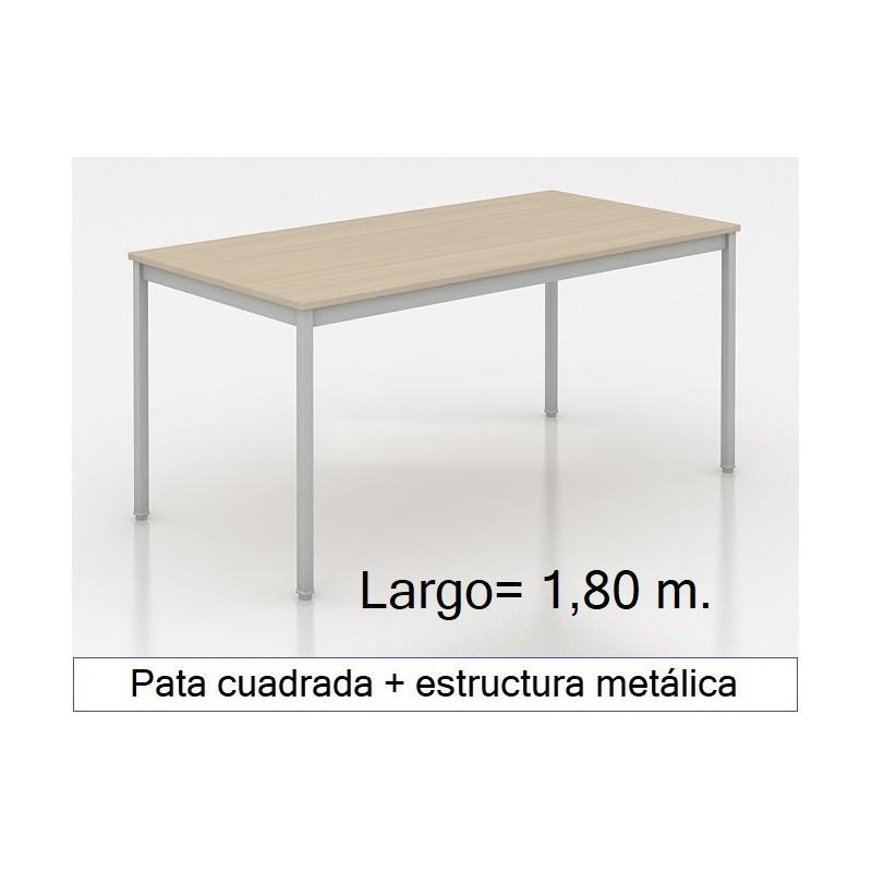 Mesa MADI-1800 patas cuadradas