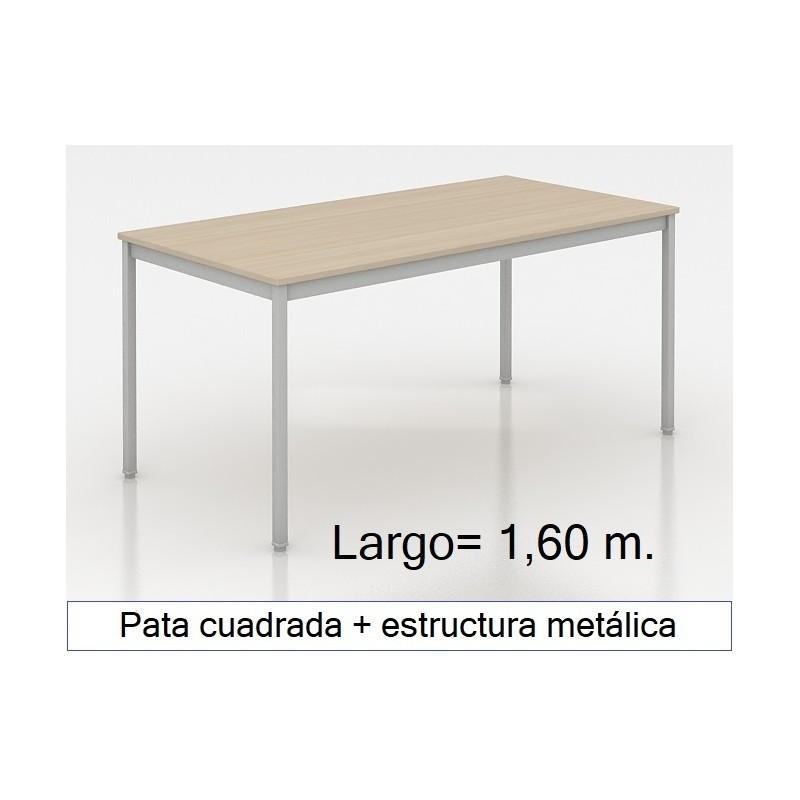 Mesa MADI-1600 patas cuadradas
