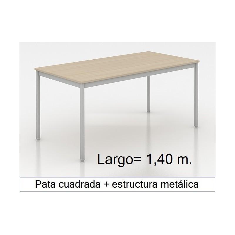 Mesa MADI-1400 patas cuadradas