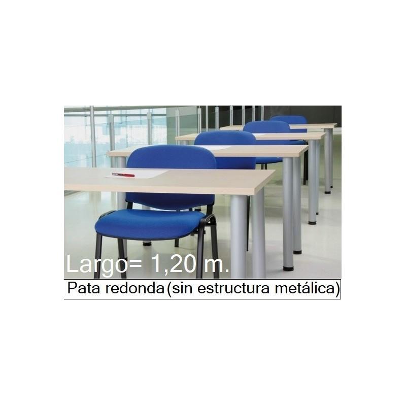 Mesa MODI-1200 patas redondas y melamina