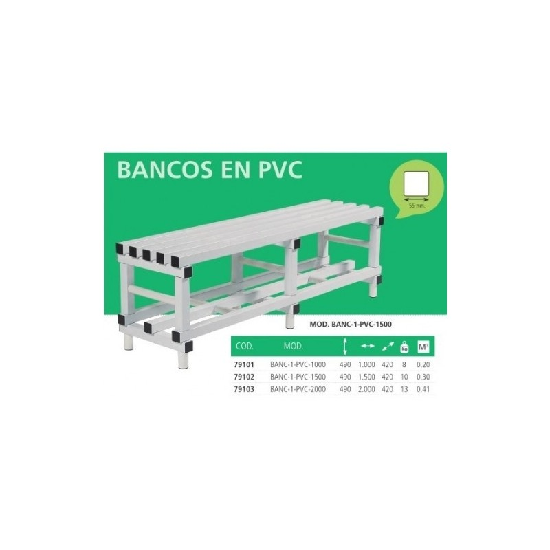 Banco de plástico PVC