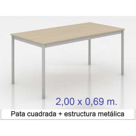 Mesa MADI-2000 x 690 patas cuadradas