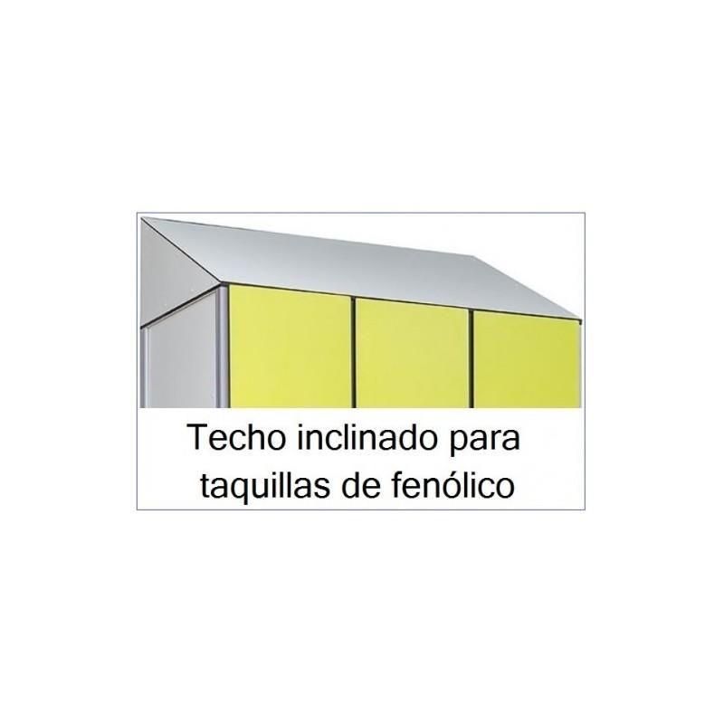 Techo inclinado fenólico (para añadir a taquillas fenólico )