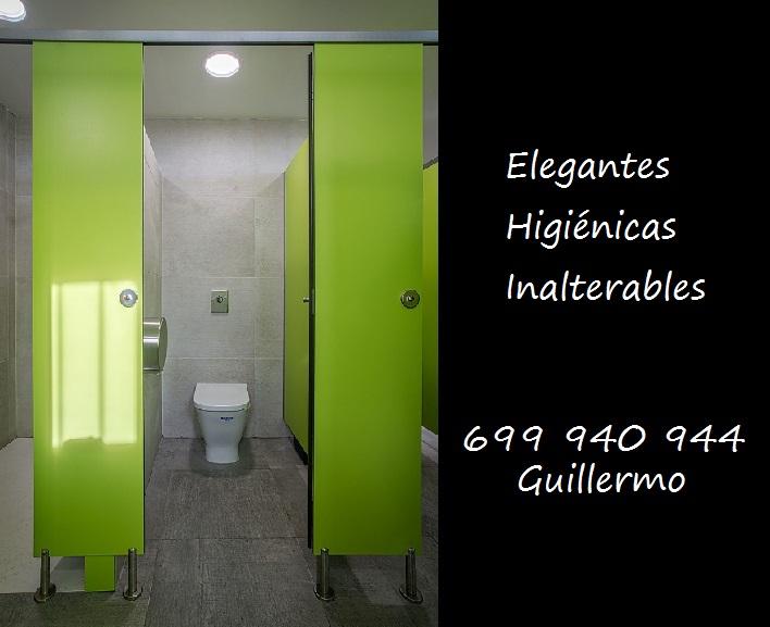 Fabricación de cabinas para aseos y duchas, en fenólico HPL.