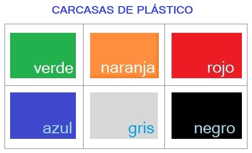 Acabados de colores para las carcasas de las sillas BIRA PLASTICO.