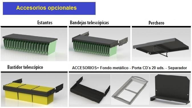 Accesorios opcionales para armarios de persianas.