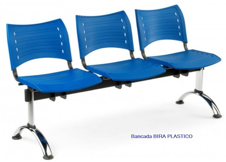 Bancada BIRA PVC de 3 plazas.