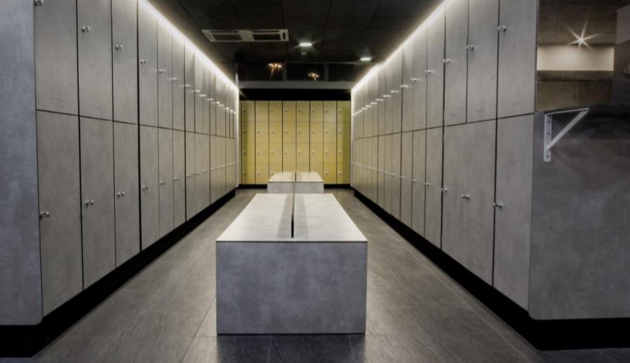 Banco doble en compacto fenólico