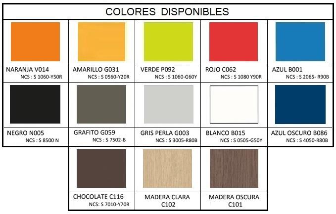 Nuevos colores y acabados de fenólico para cabinas de aseos y duchas, taquillas y bancos.