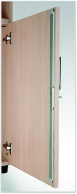 Puertas de armarios de melamina.
