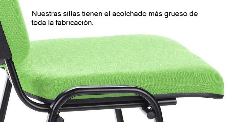 Máximo espesor de asiento en sillas BIRA
