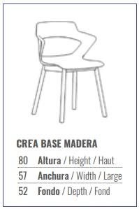 Medidas de la silla modelo CREA.