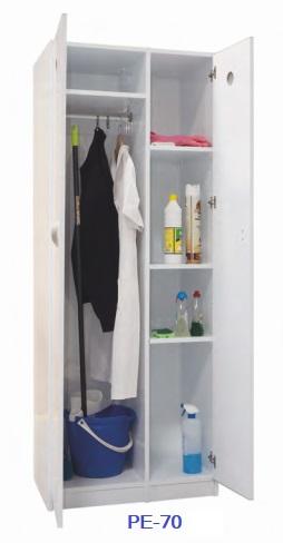 Armario de plástico para útiles de limpieza