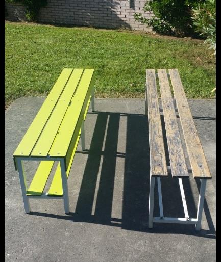 Diferencias entre un banco de fenólico y uno de madera (aunque sea de pino barnizada)