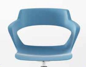 Asiento y respaldo del modelo de silla CREA.