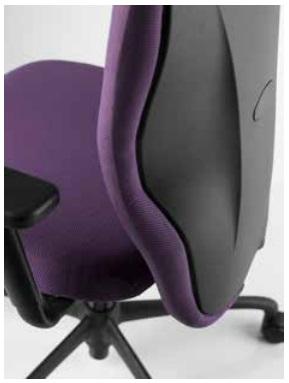 Detalle sillón TORO, respaldo.