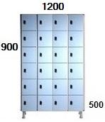 Medidas taquillas de 6 puertas de 30 cm. de ancho.