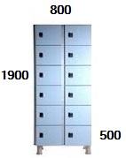 Medidas taquillas de 6 puertas de 40 cm. de ancho.