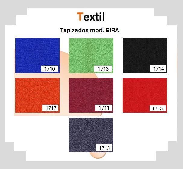 Colores de tela BALÍ para sillas BIRA.